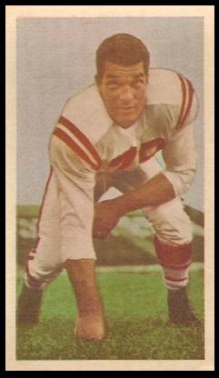 Gene Brito 1954 Blue Ribbon football card