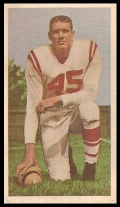 Don Loney 1954 Blue Ribbon football card