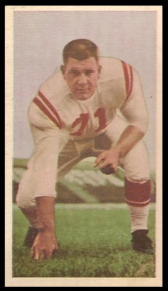 Tom Miner 1954 Blue Ribbon football card