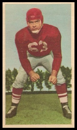 Jim Staton 1954 Blue Ribbon football card