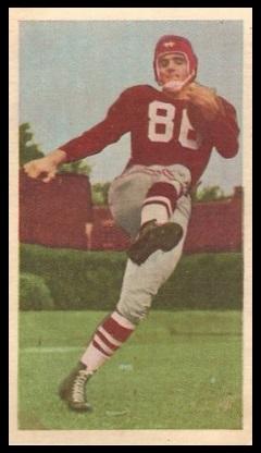 Alex Webster 1954 Blue Ribbon football card