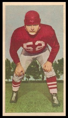 Ed Bradley Jr. 1954 Blue Ribbon Chocolate football card