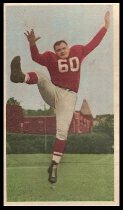 Tex Coulter 1954 Blue Ribbon football card