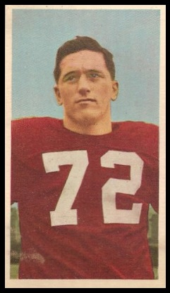 Jim Miller 1954 Blue Ribbon football card