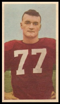 Tom Moran 1954 Blue Ribbon football card