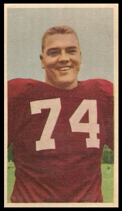 Doug McNichol 1954 Blue Ribbon football card