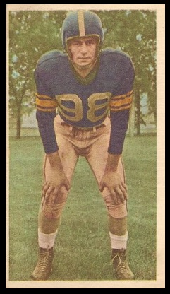 Gerry James 1954 Blue Ribbon football card