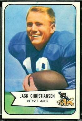 Jack Christiansen 1954 Bowman football card