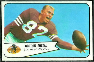 Gordon Soltau 1954 Bowman football card
