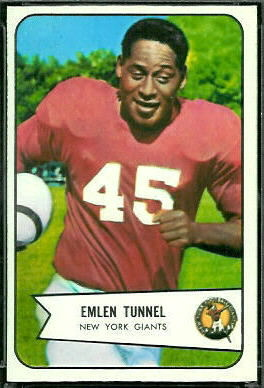 Emlen Tunnell 1954 Bowman football card