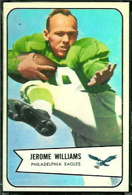 Jerome Williams 1954 Bowman football card