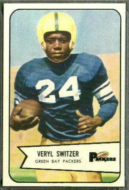 Veryl Switzer 1954 Bowman football card