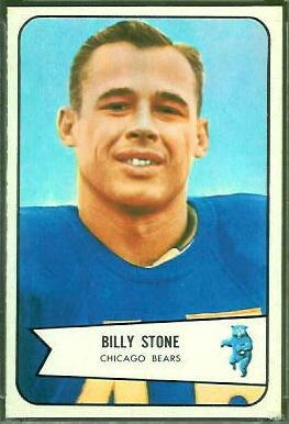 Billy Stone 1954 Bowman football card