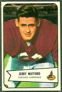 Jerry Watford 1954 Bowman football card