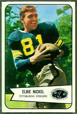 Elbert Nickel 1954 Bowman football card