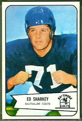 Ed Sharkey 1954 Bowman football card