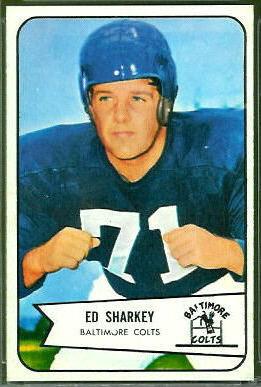Ed Sharkey 1954 Bowman football card