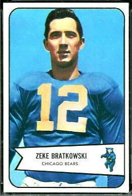 Zeke Bratkowski 1954 Bowman football card