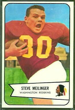 Steve Meilinger 1954 Bowman football card