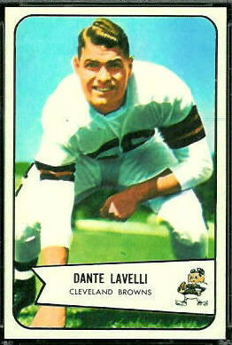 Dante Lavelli 1954 Bowman football card