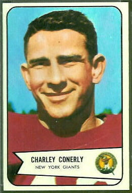 Charley Conerly 1954 Bowman football card