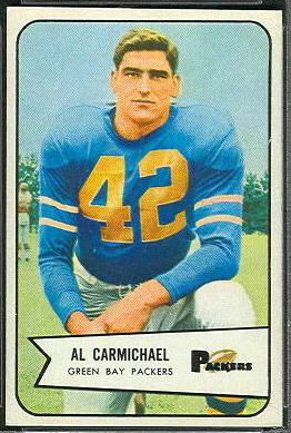 Al Carmichael 1954 Bowman football card