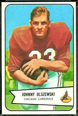 John Olszewski 1954 Bowman football card