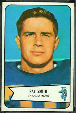 Ray Smith 1954 Bowman football card