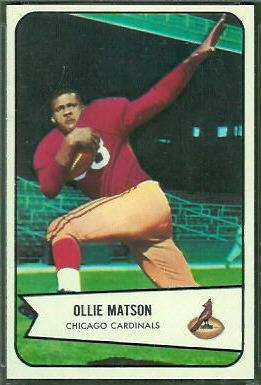 Ollie Matson 1954 Bowman football card