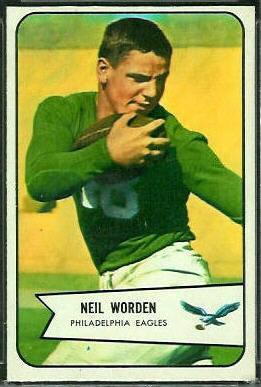 Neil Worden 1954 Bowman football card