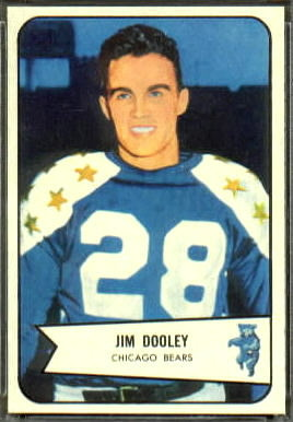 Jim Dooley 1954 Bowman football card