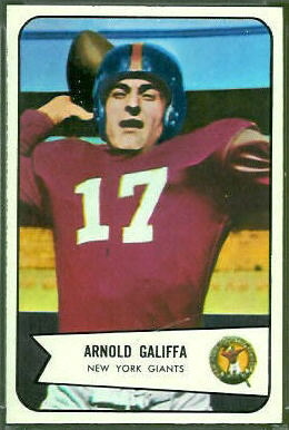 Arnold Galiffa 1954 Bowman football card