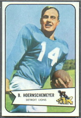 Bob Hoernschemeyer 1954 Bowman football card