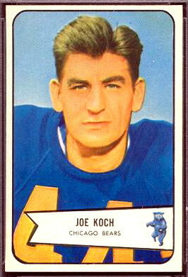 Joe Koch 1954 Bowman football card