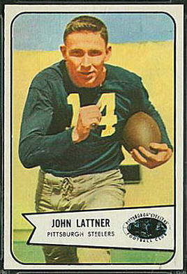 John Lattner 1954 Bowman football card