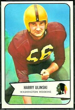 Harry Ulinski 1954 Bowman football card