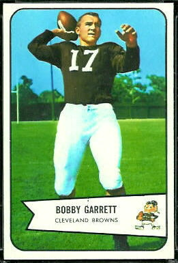 Bobby Garrett 1954 Bowman football card