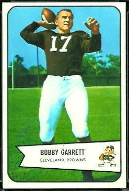 Bobby Garrett 1954 Bowman football card