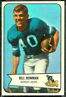 Bill Bowman 1954 Bowman football card