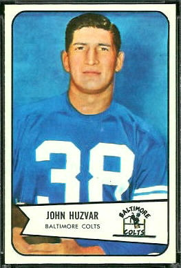 John Huzvar 1954 Bowman football card