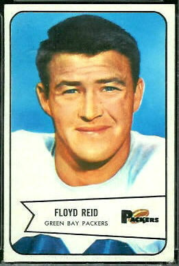Floyd Reid 1954 Bowman football card