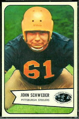John Schweder 1954 Bowman football card