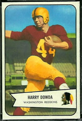 Harry Dowda 1954 Bowman football card