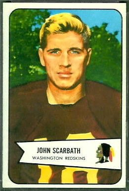 Jack Scarbath 1954 Bowman football card