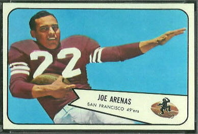 Joe Arenas 1954 Bowman football card