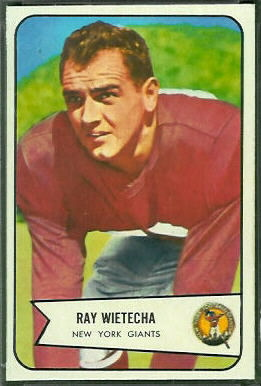 Ray Wietecha 1954 Bowman football card