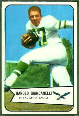 Harold Giancanelli 1954 Bowman football card