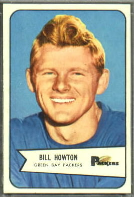 Bill Howton 1954 Bowman football card