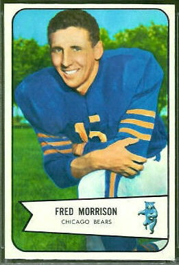 Fred Morrison 1954 Bowman football card