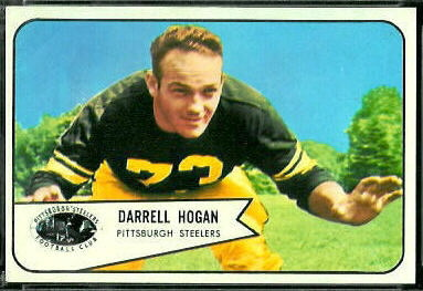 Darrell Hogan 1954 Bowman football card